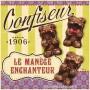 """Serviettes papier """" Confiseur sucettes """" """" Le Manège Enchanteur """" natives"""