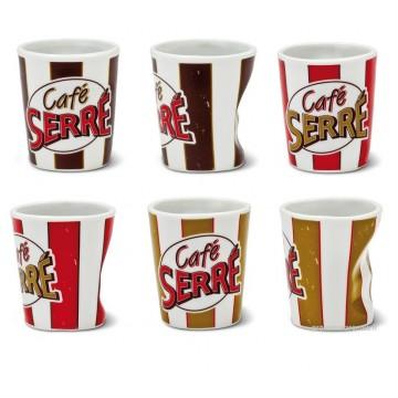 """6 tasses à café """" Café Serré """" Natives"""