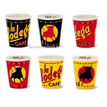6 tasses à café Bodéga Natives