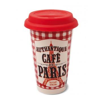 """Mug de voyage US isotherme """"Café de Paris"""" Natives déco rétro vintage"""