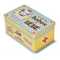 "Boîte à pharmacie métal "" Les Bobos de bébé "" Natives déco"
