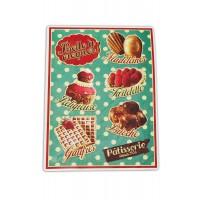 """Plaque Petits Magnets Deco """" Pâtisserie Belle à croquer """" Native déco rétro vintage"""