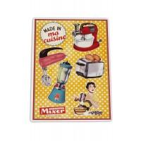 """Plaque Petits Magnets Deco """" Made in ma Cuisine """" Native déco rétro vintage"""