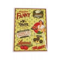 """Plaque Petits Magnets Deco """" Bistrot chez Fanny """" Native déco rétro vintage"""
