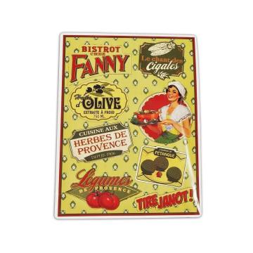 Plaque Petits Magnets FANNY déco rétro vintage Natives