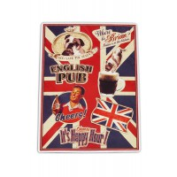 "Magnets déco "" English Pub Lord Brian "" Natives déco rétro vintage"