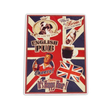 "Petits magnets déco "" English Pub Lord Brian "" Natives déco rétro vintage"
