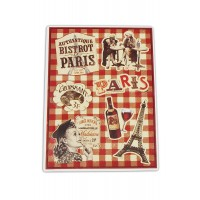 Plaque Petits Magnets BISTROT DE PARIS déco rétro vintage Natives