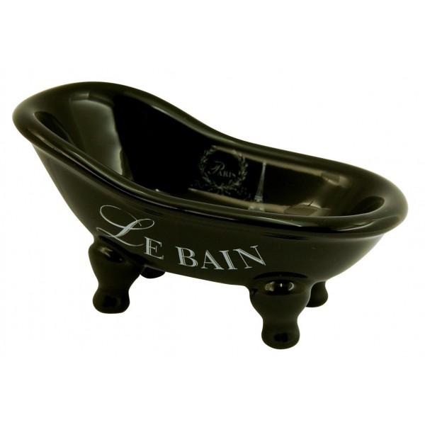 Porte savon petite baignoire ancienne noire paris for Porte savon pour baignoire