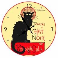 """Horloge """" La tournée du Chat Noir """" déco rétro"""