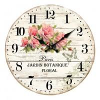 """Horloge """" Roses Jardin Botanique Floral """" déco rétro"""