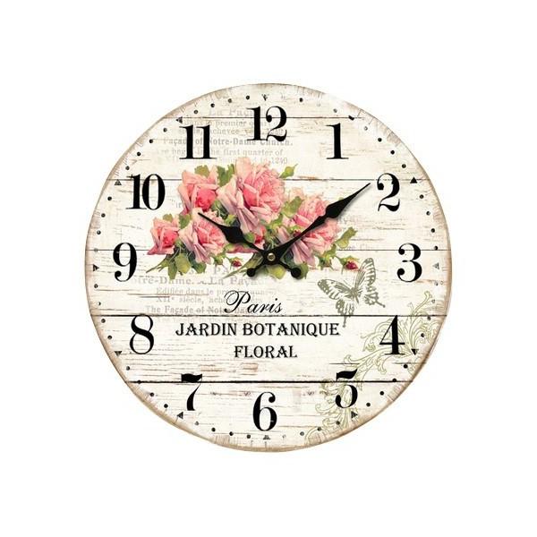 """Horloge """" Roses Jardin Botanique Floral """" déco rétro ..."""