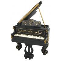 Boîte à musique piano à queue grand modèle déco rétro music collection
