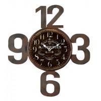 Horloge Antiques chiffre métal découpé déco rétro collection