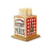 """Boîte à Cure-dents """" Bistrot de Paris """" Natives déco rétro et vintage"""