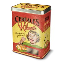 """Boîte à céréales métal """" céréales Killeur """" Natives déco rétro et vintage"""