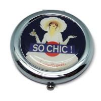 """Miroir de poche """" So Chic ! """" Natives déco rétro et vintage"""