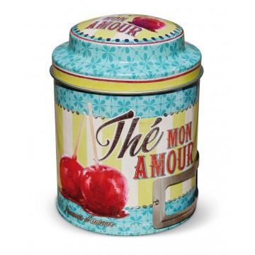 """Boîte à thé """" Thé mon amour """" Natives déco rétro et vintage"""