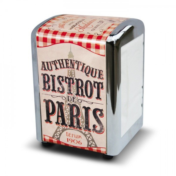 distributeur de serviettes bistrot de paris natives d co r tro et vintage provence ar mes. Black Bedroom Furniture Sets. Home Design Ideas