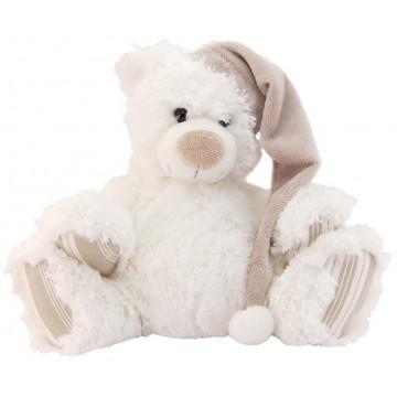peluche ours blanc avec bonnet provence ar mes tendance sud. Black Bedroom Furniture Sets. Home Design Ideas