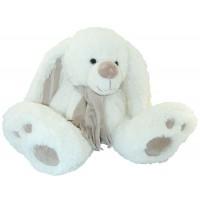 Peluche Ours lapin blanc avec écharpe