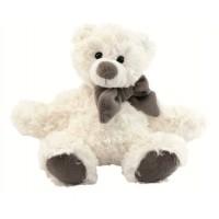 Peluche Ours blanc avec écharpe