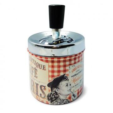 """Cendrier poussoir """" Café de Paris """" Natives déco rétro vintage"""