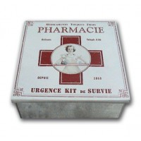 Boîte à Pharmacie métal style ancien
