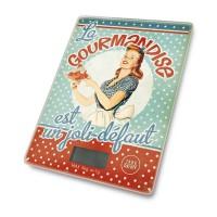 """Balance électronique de cuisine """"Miss Fifties"""" Natives déco rétro vintage"""