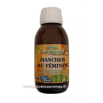 N° 3 - HANCHES AU FEMININ - Complexe BIO pour drainage hanches, cuisses et fesses