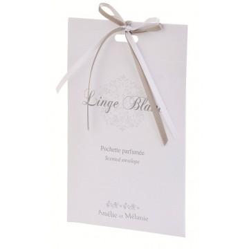 Pochette parfumée LINGE BLANC Amélie et Mélanie Lothantique