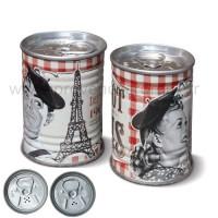 Salière Poivrière mini concerves Bistrot de Paris Natives déco rétro vintage