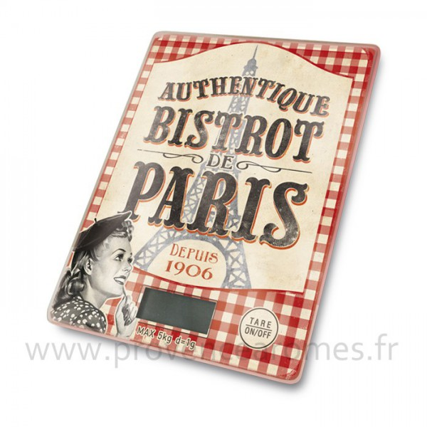 balance lectronique de cuisine bistrot de paris natives d co r tro vintage provence ar mes. Black Bedroom Furniture Sets. Home Design Ideas