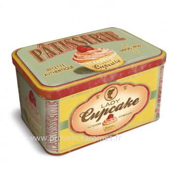 Boîte à biscuits lady cupcake signée Natives déco rétro vintage