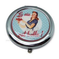 Miroir de poche MISS FIFTIES Natives déco rétro et vintage