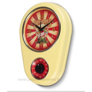 Horloge Minuteur BONBONS GOURMANDS Natives déco rétro et vintage