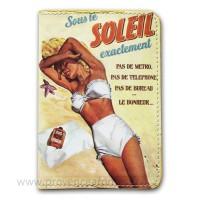 Protège passeport SOUS LE SOLEIL Natives déco rétro vintage