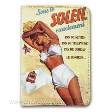 Protège passeport SOUS LE SOLEIL Natives déco rétro et vintage