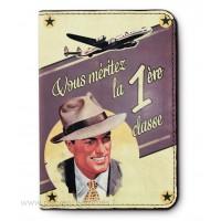 Protège passeport 1ère CLASSE déco rétro vintage Natives