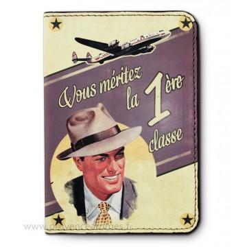 Protège passeport 1ère CLASSE Natives déco rétro et vintage