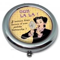 Miroir de poche OUH LA LA !! Natives déco rétro et vintage