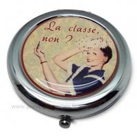 Miroir de poche LA CLASSE Natives déco rétro et vintage