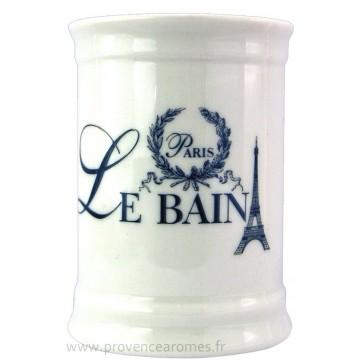 Pot en céramique salle de Bain déco PARIS LE BAIN