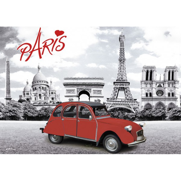 magnet plaque paris 2cv deux chevaux provence ar mes tendance sud. Black Bedroom Furniture Sets. Home Design Ideas