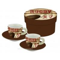 Coffret de 2 tasses à café RUGBY L'Esprit d'équipe
