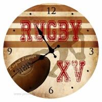 Horloge RUGBY XV L'esprit d'équipe