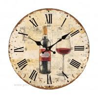 Horloge VINS DE FRANCE Cabernet Sauvignon