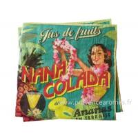 Serviettes en papier NANA COLADA Natives déco rétro vintage