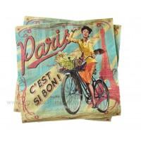 Serviettes en papier PAULETTE Natives déco rétro vintage