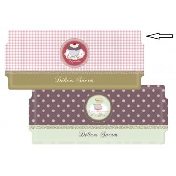 Plat à cake ÉMILY CUPCAKES collection Délices sucrés